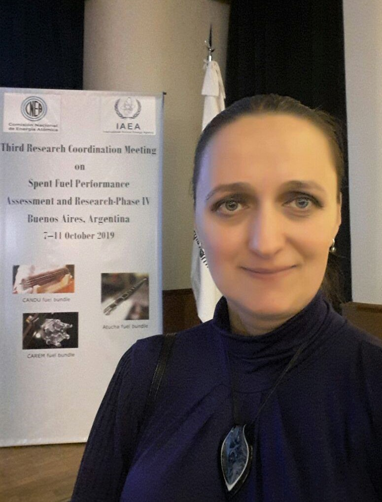 Співробітник ІПМаш ім. А.М. Підгорного НАН України С. В. Альохіна виступила зі звітною доповіддю на конференції МАГАТЕ в Аргентині