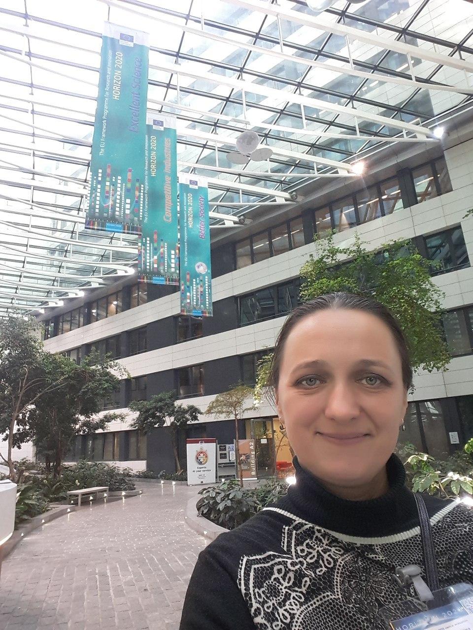 Співробітник ІПМаш ім. А. М. Підгорного НАН України С. В. Альохіна взяла участь у засіданні в Європейській комісії в Брюсселі (Бельгія)