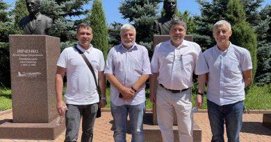 """Директор Інституту академік А. Русанов відвідав з робочим візитом ДП """"Івченко-Прогрес"""""""